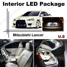 For Mitsubishi Lancer 2008-2015 White LED Interior kit + White License Light LED