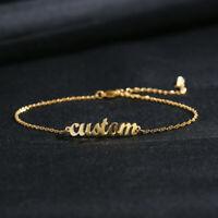 Armkettchen mit Wunschname Armkette Armband Wunschname Gravur Geschenk in Gold