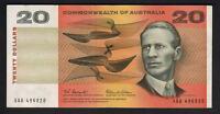 Australia R-401F.  (1966) Coombs/Wilson - 20 Dollars..  XAA  1st Prefix .. VF