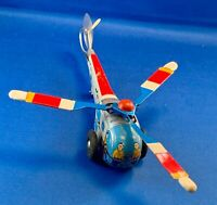 Vintage TIN HELICOPTER TOY Friction Windup Bell Aircraft Corp, Works Well Japan