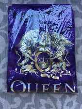 New! Queen And Adam Lambert Tour Vip Purple Silky Robe with Black Belt