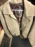 Italian Textile Group GA Camoscio Tan Lightweight Suede Jacket Mens Size Large