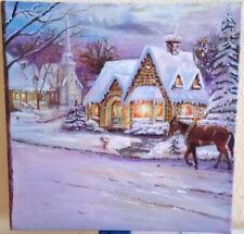 Haus im Schnee, Öl auf Leinwand, 40 cm x 40 cm (B x H)