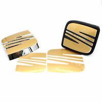 Emblem Folie Seat Logo Set Gold Metallic Leon 1P Altea XL Freetrack Aufkleber