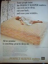 1967 Perfect Sleeper Bed Mattress Blonde White Peignoir Lingerie Ad