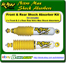 Holden Rodeo RA Shock Absorber Kit - Raw 4x4 Nitro Max