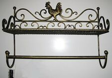 NEW GOLD ROOSTER SHELF Wire Holder Rack Caddy Chicken