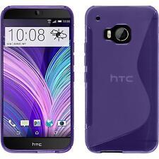 Funda de silicona HTC One M9 S-Style - púrpura + protector de pantalla