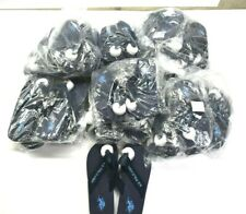 Wholesale Lot of 22 Pairs US Polo Boys XS-L Flip Flop Thong Slippers Blue $396