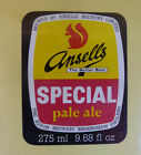 VINTAGE BRITISH BEER LABEL - ANSELLS BREWERY, SPECIAL PALE ALE