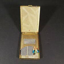 New listing Vintage Gold Color Pocket Matchbook Case Holder Match Safe Fob