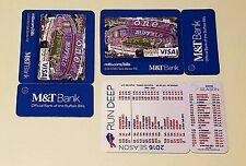 2016 football pocket schedule calendar key ring Buffalo Bills RUN DEEP M&T Bank