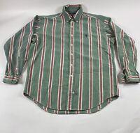 Vintage Ralph Lauren Polo Sz M Multicolor Striped L/S 100% Cotton Button Shirt