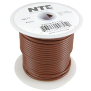 NTE Electronics WA10-01-100 HOOK UP WIRE AUTOMOTIVE 10GAUGE BROWN STRANDED 100'