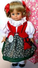 "Vintage Engel Puppe German Vinyl Doll 17"" GORGEOUS DOLL blond blue eyes Gotz"