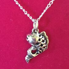 Tibetan Silver Charm Necklace - Koi Fish Goldfish (Style #1)