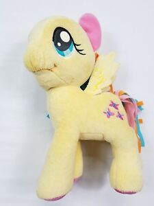 "(5376) My Little Pony 10"" Plush Yellow Fluttershy butterfly Multicolor Pink Blue"