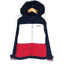 Women's TOMMY HILFIGER Jacket Red Navy White Waterproof Hooded Jacket Size - S