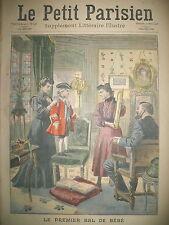 MARDI GRAS PREMIER BAL DE BéBé DEGUISEMENT LOUIS XV LE PETIT PARISIEN 1908
