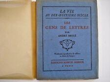 Les Gens de Lettres - La Vie au Dix-Huitieme Siecle inv331