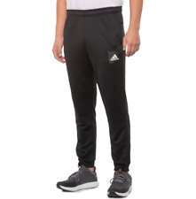 adidas Men's Axis Tech Pants Tapered Jogger 3 Stripes Large Black White Ft2636