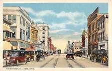 Alliance Ohio Main Street Scene Store Fronts Antique Postcard K16328