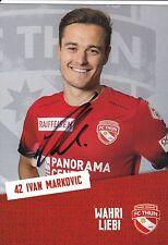 FOOTBALL carte joueur IVAN MARKOVIC équipe FC THUN signée