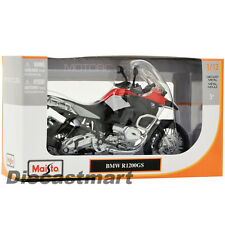 MAISTO 1:12 BMW R1200GS NEW DIECAST MODEL MOTORCYCLE BLACK/SILVER/RED