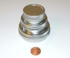 1/2, 1, & 2 oz Round Shallow Survival Tins & Screw Top Lids Craft Sewing Use NEW