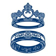 Tattered Lace GIANT WEDDING RINGS Craft Cutting Die Set - FREE UK P&P - 440851