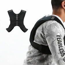 12 lb Black Adjustable Weighted Jacket Vest Fitness Training Exercise Waistcoat