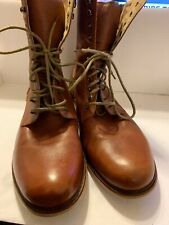 Radii Brand Mens Boots Tan Brown Lace Up Sz 12