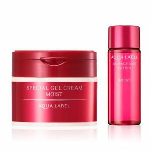 SHISEIDO AQUA LABEL Special Gel Face Cream Moist Rich Collagen All-in-One 90g