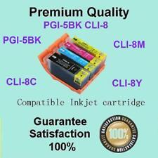 8 x PGI-5BK CLI-8 B/C/M/Y Compatible for CANON PIXMA MP970 MX700 MX850 IP3300