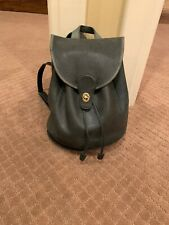 Vintage COACH Chartreuse Backpack Daypack Bag Green Leather Bookbag Purse
