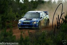 "Petter Solberg World Rally Champion 03 SUBARU IMPREZA HAND SIGNED PHOTO 12x8"" CJ"