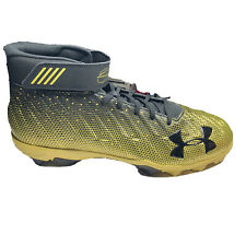 Under Armour 1297306-007 Bryce Harper 2 Gold Black Baseball RM Cleats Sz 13