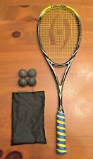 Harrow Vapor Squash Racquet Black / Lime with 4 Balls Orig $150