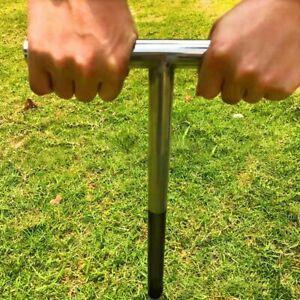 "20"" Soil Sampler Probe Garden Lab Test Tool T-Style Handle 304 Stainless Steel"