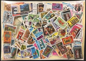 750 WORLDWIDE STAMPS COLLECTION MNH LOT WILDLIFE ART TRAIN SHIP SCOUTS BUTTERFLY