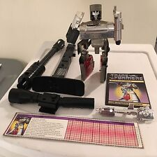 1984 Megatron Complete + Booklet & Tech Spec G1 Transformers