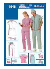 Butterick Sewing Pattern 4946 SZ 16-22 Mens Women's Easy Scrubs Uniform Basics