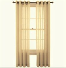 "*MarthaWindow Promenade Grommet Sheer Curtain Window Panel 50"" x 108"" Linen NEW"