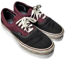 Vans Canvas Sneakers Black Wine Skateboarding Low Shoes Size 9 Men 10.5 Women