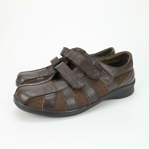 Aetrex Mary Womens Brown Double Strap Hook Loop Oxfords Shoes Sneakers Size 10