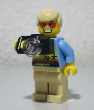 Red/Gold Sun glasses Camera Tourist Man 8970 Agents LEGO Minifigure Figure fig