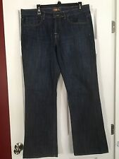 MUST SEE!! BITTEN by SARAH JESSICA PARKER DARK BLUE WIDE LEG JEANS! SIZE 12R!!