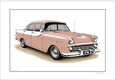 60'  FB HOLDEN SPECIAL SEDAN  LIMITED EDITION CAR DRAWING  PRINT (7 CAR COLOURS)