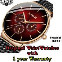 LIGE Ultra-thin Waterproof Quartz Luxury Wristwatch For New Fashion Mens 2020