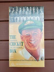 Don Bradman The Cricket Box Vhs Movie Set Unopened